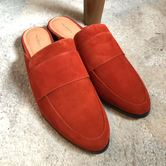 eb46cd70f495 Halogen Shoes | Violet Mule In Rust Suede | Poshmark